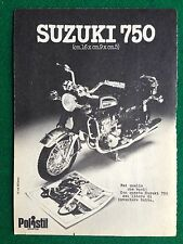 OC77 Pubblicità Advertising Clipping 19x13 cm (70s) MOTO SUZUKI 750 POLISTIL