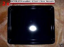 ZWEI x hochwertige Backbleche 42,5 x 36 cm ORIGINAL AEG verpackt emailliert Neu