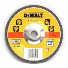 """10 Dewalt DT3273 180mm 7"""" Abrasive Zirconia Flap Sanding Discs 80G"""