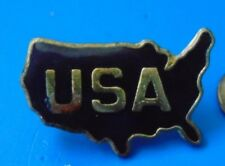 USA Black Silhouette of Country PIN Lapel United States