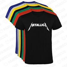 Camiseta hombre Metallica logo tallas y colores