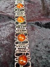 schönes ,altes Armband___835 Silber __Bernstein__50,2 Gramm_!