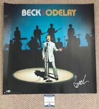 BECK HANSEN Signed 1997 ODELAY Promo POSTER Rare! Singer Bek Music BECKETT COA