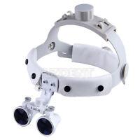 3.5X-R Dental Surgical Medical Headband Binocular Loupes Magnifier White