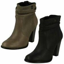 Ladies Harley Davidson Heeled Ankle Boots Stone Brook