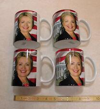 Hillary Clinton 45th President Coffee Mug / Cup...Times 4... plus Buffalo nickel