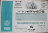 SPECIMEN OIL Stock Certificate: ''Triton Energy Corp.''