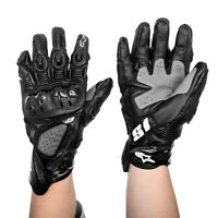 Riding Motorcycle Gloves Motorbike Gloves Full Leather Road Bike Gloves Large