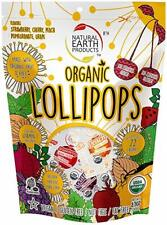 Organic Lollipops by Natural Earth Products - 245g (Approx. 40 pops)