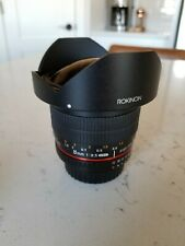 Rokinon 8mm f/3.5 HD Lens For Nikon HD8M-N MINT CONDITION