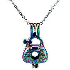Rainbow Color Handbag Babygirl Beads Cage Locket - Rainbow Color Necklace C778