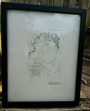 Pablo Picasso, Etching, Professionally Framed, Acid Free Backed, limited edition