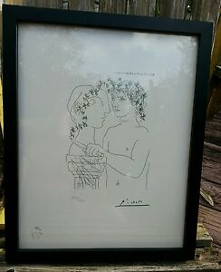 """Picasso's """"Young Sculptor at Work"""" Etching, 3-25-1933, Pro Framed, Ltd Ed #'ed"""