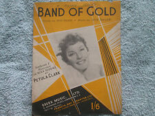 recorded by Petula Clark  BAND OF GOLD  Sheet Music