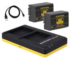Dual-Ladegerät + 2 x Akku f Panasonic DMW-BMB9-E z.B. Lumix DC-FZ82,  DC-FZ83