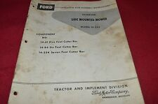 Ford Tractor 14-233 Side Mounted Mower Operator's Manual Chpa