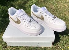 🔥 nuevo-Custom gucci Nike Air Force 1 ~ EUR 40-UK 6-af1-blanco/White