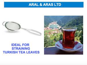 ✅ Metal *Turkish TEA* Strainer - Simple & Light - Ideal for *Tea Leaves* ✅
