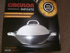Circulon Infinite Hard Anodised Covered Stirfry Wok, 36 cm (DERBY)