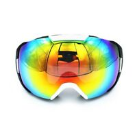 Ediors Snowboard Ski Goggles Double Anti-Fog Lens - Black/White Frame
