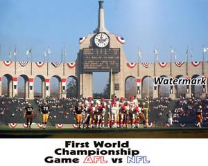 1967 NFL Super Bowl I Kansas City Chiefs vs Green Bay Packers 8 X 10 Photo Pic