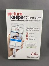 NEW PICTURE KEEPER CONNECT 64GB For Apple iPhone iPad iPod Backup Your Photos