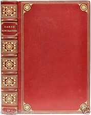 Adventures of Baron Munchausen - 37 hand colored plates - 1869 - LEATHER BOUND!