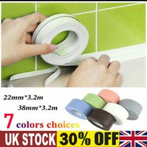 Adhesive Waterproof Sealant Strip Sink Sealing Tape Bathroom Kitchen Toilet 3.2M