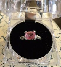 Cushion Cut Lab-Created Pink Diamond Engagement Ring Size 5.5
