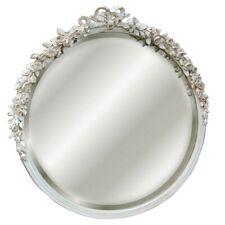 Hickory Manor Round Rose Mirror/Old World White - 6031OWW