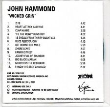 JOHN HAMMOND -Wicked Grin- RARE CDr Acetate Promo Tom Waits
