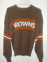 Vtg 80's NFL Proline Cliff Engle Cleveland Browns Knit Sweater Sz Lg Dog Pound