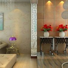10Pcs Fashion Glitter Acrylic Mirror Tile Stickers Wall Decal Home Decoration