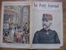 1898 LE PETIT JOURNAL 409 GENERAL RENOUARD COURONNEMENT REINE WILHELMINE HOLLAND
