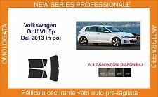 pellicola oscurante vetri volkswagen golf 5 porte dal 2012 in poi