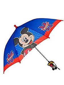 Disney Mickey Mouse Red Blue kid's original licensed Umbrella! New Version!