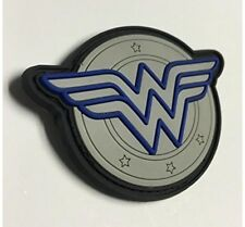 Thin Blue Line Wonder Woman Morale Patch Hook & Loop Gear Bag New Version PVC