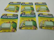 Zoo Med Bird Banquet Mineral Block Vegetable Seed Formula Food 1 oz. 6 Pack