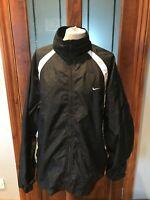 Nike - Vintage 90s Mens  Black & White Mesh Windbreaker Jacket - Size XL