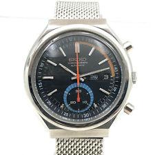 Vintage Seiko Chronograph 6139B Automatic Day Date 41mm Mens Wrist Watch B1377