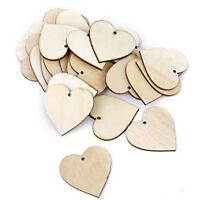 50pcs Hearts - Wooden Blank Craft Embellishment - Heart Decoration 30mm FP