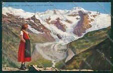Aosta Sorgente Lys Ghiacciaio Costumi cartolina QQ6010