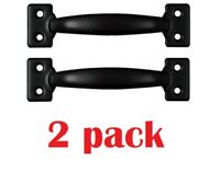 National Hardware V171 6-1/2 Inch Pulls in Black,  Pack of 2 - NEW