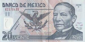 Mexico: 20 Pesos Juarez Nov 9, 2005 El Banco de Mexico.