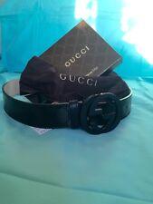 Gucci Mens Black Imprime Belt 95cm 32-34