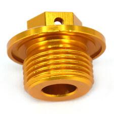 Engine Oil Fill Plugs Screw Cap For Suzuki RM80 125 RMZ250 RMZ450 RMX450Z Gold