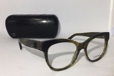 CHANEL AUTHENTIC UNISEX OPTICS(3348 c.1568) 51/17/140mm OLIVE GREEN- RX READY