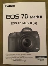 Canon EOS 7D Mark II Manual - Full Colour Pages Printed Professionally Bound A5
