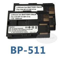 2 Lot Battery for Canon BP-511a EOS D30 D60 FV40 5D 10D 20D 30D 40D 50D 300D