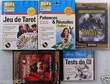 lot de 5 jeux pour PC: tarot,patiences réussites, swat 3, qi, throne of darkness